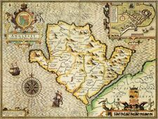 ANGLESEY 1610 by John Speed - reproduction old map
