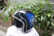 Open Face Helmet - Blue Metallic HD