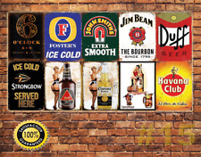 Job Lot 10 x METAL TIN SIGN WALL PLAQUE  PUB BAR MAN CAVE 15