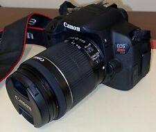 Canon EOS Rebel T5i 18.0MP DSLR / 18-55mm / 75-300 mm Lens / Bag / Battery grip