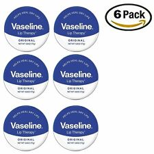 Vaseline Lip Therapy, Lip Balm Tin Original 0.6 oz (Pack Of 6)