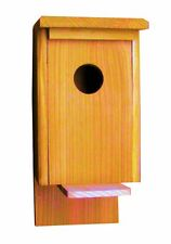 1 Cedar Nesting Box, for Robins, Cardinals, Bluebirds, Titmouse.... Bird House