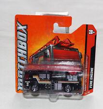 2012 Matchbox MBX Outdoor Sights 83/120 Fire Engine Black New Short Card