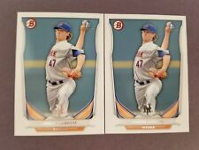 HOT 2 LOT! 2014 BOWMAN JACOB DEGROM RC ROOKIE ☆ METS ACE ☆ FAST FREE SHIPPING ☆