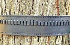 Leather Holster and 45 cal CARTRIDGE Belt All Natural Black Leather 70208