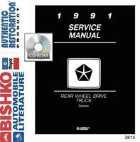 1991 Dodge Dakota Truck Shop Service Repair Manual CD Engine Drivetrain Wiring