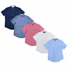 Tommy Hilfiger Masculino Botão No Com Gola Camisa Bandeira Casual botão Logotipo Novo Novo com etiqueta