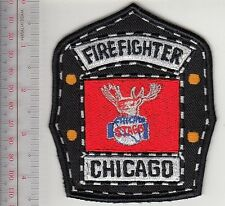 Chicago Fire Department & Chicago Stags Basketball Firefighter Helmet Illinois