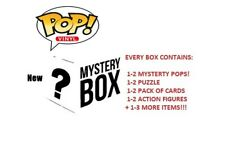 💥 NEW Mystery BOX: HAS 1-2 Funko Pops! + Puzzle + Action Figures + Cards + MORE