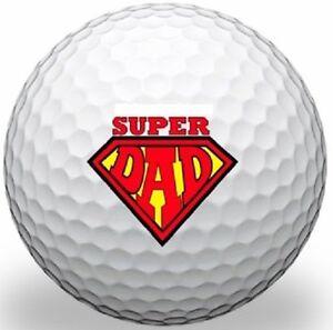 1 Dozen (Super Dad Logo) Taylor Made Mix Mint / AAAAA Used Golf Balls #1 Ball!