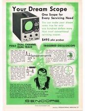 1972 Sencore PS163 Oscilloscope TV Radio Repair Test Equipment Vtg Print Ad