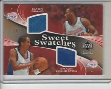 ELTON BRAND LIVINGSTON DUAL JERSEY GOLD #/25 2006-07 SWEET SHOT