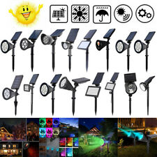 Solar 7 LED Spotlight Outdoor Garden Lamp Landscape Lights Waterproof Decor LOT