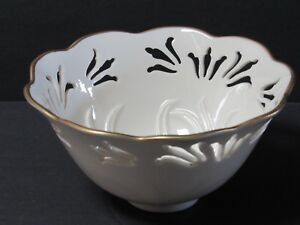 "Vintage Lenox China Westbury Collection Pierced 6"" Bowl Gold Trim"