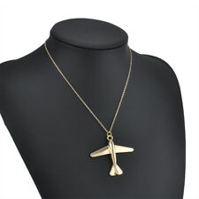 Charm Chain Necklace Jewelry Gift Women Fashion Airplane Gold Plated Pendant