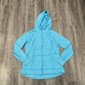 Champion Duo Dry Full Zip Hoodie Jacket Women's Size Large Turquoise