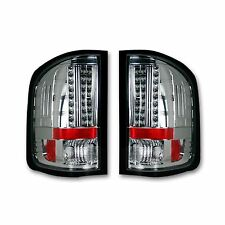 RECON 264175CL Chevrolet 2007-2013 Silverado GMC Sierra Red-Red Tail Lights LED