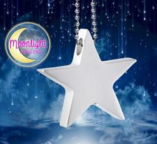 New Star Cremation Urn Keepsake Ash Silver Memorial Necklace