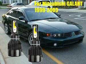 LED GALANT 1999-2003 Headlight Kit H4/9003 6000K White CREE Bulbs HI/Low Beam