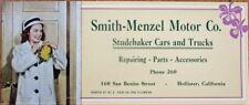 Studebaker Cars & Trucks - Hollister, CA 1951 Advertising Blotter - Smith-Menzel