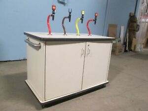 H.D. COMMERCIAL MOBILE SELF-SERVE CO2 PROPELLED (4) FLAVORS CONDIMENT STATION