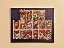 Street Fighter Character Select Canvas Print - 90s Retro Game Room Wall Art