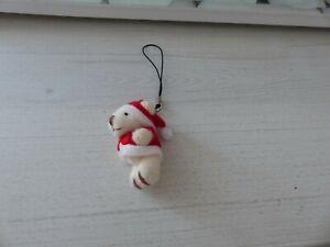 Porte Clé ou Décoration de Noël Mini Ourson - Bijoux des Lys