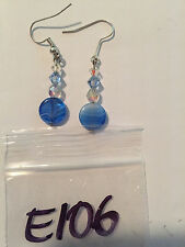 E106 Earrings with Swarovski crystal, glass and Czechoslovakian glass beads