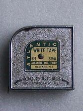 ATLANTIC TAPE MEASURE  RULER, 6 ft, WHITE TAPE  S65W  NEWARK, NJ made in USA