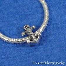 Silver Nautical Anchor Charm - Large Hole Bead fits European Bracelet