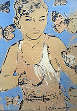 """Early DAVID BROMLEY Limited Edition Screenprint """"Sting Like a Bee"""""""