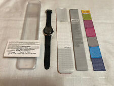 Swatch Irony 2006 Black Flower Watch Band & Dial YLS146 In Box W/Paperwork