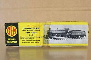 GEM TT GAUGE KIT BUILT GW GWR 2-6-0 CLASS 43XX LOCOMOTIVE KIT BOXED