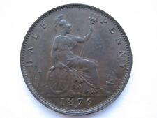 More details for 1876-h victoria halfpenny ef f325