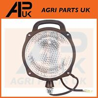 Universal Tractor Digger Truck 4x4 Round Work Light Plough lamp + switch lamping