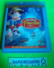 PINOCCHIO  / WALT DISNEY  /  DVD + BLU-RAY VIDEO PAL ÉDITION SPÉCIALE