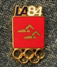 Synchronized Swimming Olympic Pin Badge ~ Red ~ Pictogram ~ 1984 Los Angeles~LA