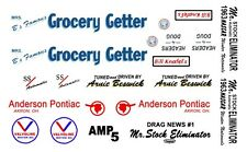 """Arnie """"the Farmer"""" Beswick Grocery Getter 63 Tempest Drag NHRA 1/43rd Decals"""