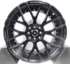"17x7.5"" 4x114.3 Wheels Rims fits Acura - Set of 4 -Gloss Black- NEW!"
