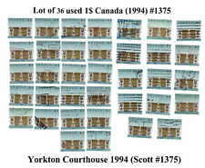 Canada used lot of 36 X 1$ Yorkton Court House 1994 Scott #1375 Face Value 36$