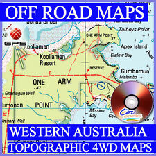 Western Australia Topographic 4WD maps for OziExplorer - Off Road GPS topo maps