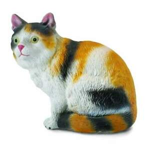 CollectA Farm Time Cat Moggy Sitting Toy Figure