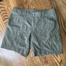 The North Face Shorts 4 Long Women's Olive Green Cargo Hiking Camping Pockets