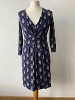 Boden Jersey Ruched Dress Size 10 R Floral