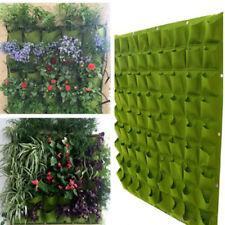 72 Pocket Outdoor Vertical Greening Hanging Wall Garden Plant Bags Wall Planter