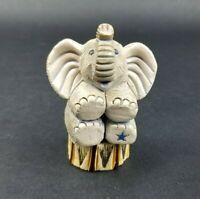 Artesania Rinconada Elephant Figurine Trunk up Circus Made in URUGUAY
