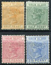 Virgin Islands 1883 issue, SG 26 - 31, Mint Hinged, CV £150