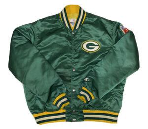 Vtg PRO LINE STARTER NFL Men's Green Bay Packers Satin Jacket Size Large USA