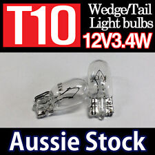 T10 12V 3.4W CLEAR Filament Globes Tail Wedge Lamp Parker Parking Light Bulbs