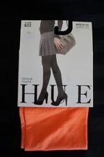 Hue Opaque Tights Sz 3 Blaze Orange Non Control Top Nylon Tights Style # 4689